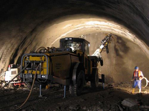 tunnel drill, face drilling, Roxar drifter application