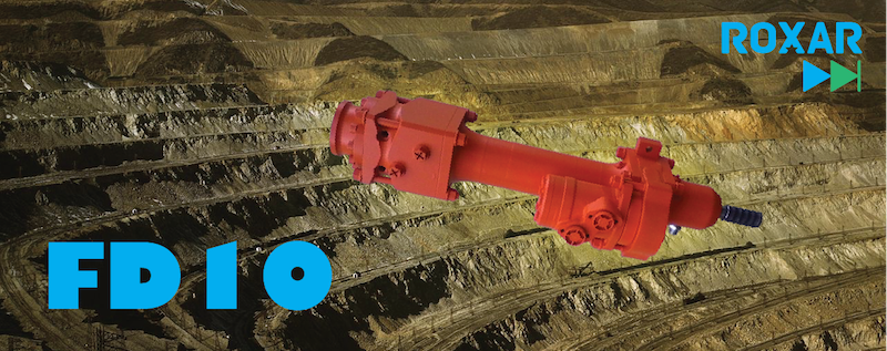 Roxar hard rock drifter - FD10 rotary percussive drilling, hydraulic rock-drill 10kW For drilling holes up to 51mm